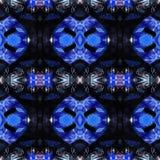 Błękitna Nowożytna Ikat Plemienna Bezszwowa Deseniowa sieć fotografia stock
