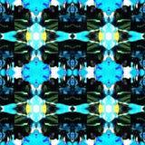 Błękitna Nowożytna Ikat Plemienna Bezszwowa Deseniowa sieć zdjęcia stock