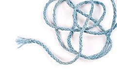 Błękitna nylonowa arkana na białym bacground Zdjęcia Royalty Free