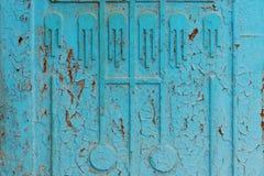 błękitna ośniedziała ściana Zdjęcie Royalty Free
