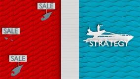 Błękitna ocean strategia biznesowa Royalty Ilustracja
