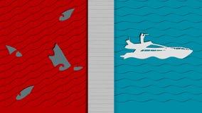 Błękitna ocean strategia biznesowa Obraz Royalty Free