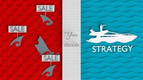 Błękitna ocean strategia biznesowa Ilustracja Wektor