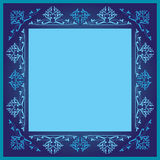 Błękitna orante ramy grafika Royalty Ilustracja