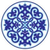 Błękitna orientalna ottoman projekta dwadzieścia trzy wersja Ilustracji