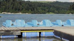 Błękitna paddle łódź zdjęcie wideo