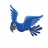 Błękitna papuga - rzadki ptak Obraz Royalty Free