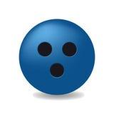 Błękitna piłka z czarnymi dziurami Fotografia Stock