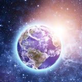 Błękitna planeta w pięknej przestrzeni Fotografia Royalty Free