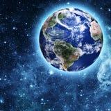 Błękitna planeta w pięknej przestrzeni Zdjęcie Royalty Free
