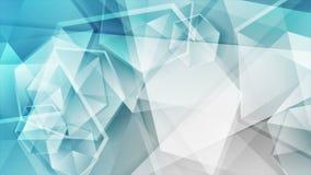 Błękitna popielata techniki poligonalna abstrakcjonistyczna wideo animacja ilustracja wektor