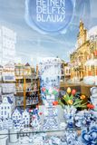 Błękitna porcelana w Delft miasteczku Obraz Royalty Free