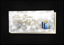 Błękitna prezent karta Zdjęcie Royalty Free