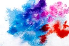 błękitna purpurowa czerwień, rozmyty punkt akwareli farba Tło ilustracja wektor