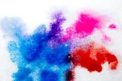 błękitna purpurowa czerwień, rozmyty punkt akwareli farba Tło royalty ilustracja
