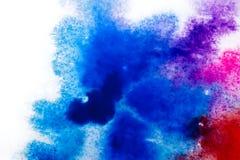 błękitna purpurowa czerwień, rozmyty punkt akwareli farba Tło ilustracji