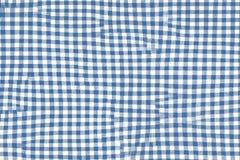 Błękitna pykniczna powszechna tkanina z ciosowymi wzorami i teksturą fotografia royalty free