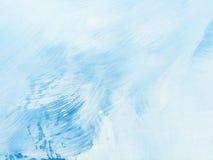 Błękitna ręka malujący abstrakcjonistycznej sztuki tło Zdjęcia Stock