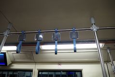 Błękitna rękojeść na pociągu Obraz Stock