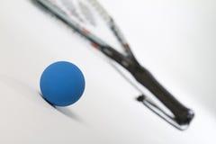 Raquetball w pierwszoplanowej przekątnie Fotografia Stock