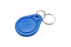 Błękitna RFID Keychain etykietka Zdjęcia Royalty Free