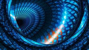 Błękitna rozjarzona wielowymiarowa wirówka z czerwoną osocze sprawą royalty ilustracja