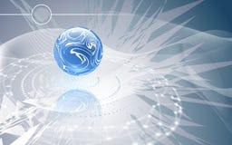 Błękitna sfera na abstrakcjonistycznym tle Zdjęcia Royalty Free