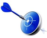 Błękitna strzałka Zdjęcie Royalty Free