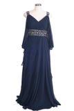 Błękitna suknia wieczorowa na bielu. obraz royalty free