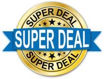 Błękitna super dylowa round złota sieci monety medalu odznaka Obraz Royalty Free