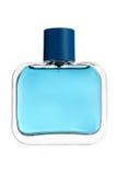 Błękitna szklana pachnidło butelka obrazy royalty free