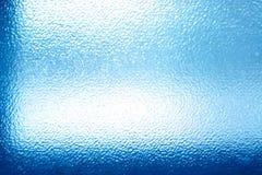 Błękitna szklana tekstura Zdjęcie Royalty Free