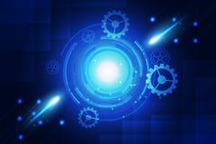 Błękitna tło abstrakta technologia Obraz Stock