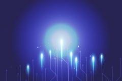 Błękitna tło abstrakta technologia Obraz Royalty Free