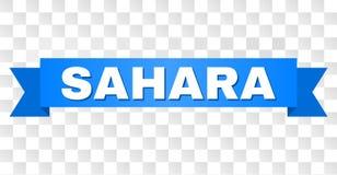 Błękitna taśma z SAHARA tytułem ilustracja wektor