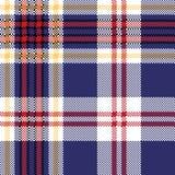 Błękitna tartan szkockiej kraty tkaniny bezszwowa tekstura Zdjęcie Royalty Free