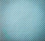 Błękitna tkanina i Białe Malutkie polek kropki obrazy royalty free