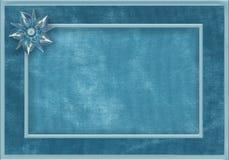 Błękitna tkaniny rama z klejnotem Obrazy Royalty Free