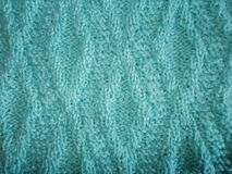 Błękitna trykotowa tekstura z ukośnika wzorem Zdjęcie Stock