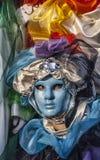 Błękitna Wenecka maska Zdjęcia Royalty Free