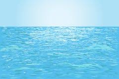 błękitna woda tło Obrazy Royalty Free