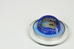 Błękitna wypalanie świeczka Fotografia Royalty Free
