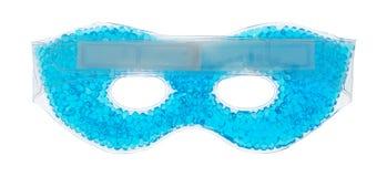 Błękitna z paciorkami gel oka maska na białym tle zdjęcie stock