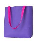 Błękitna zakupy tkaniny torba Zdjęcia Stock