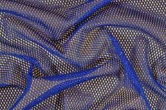 Błękitna zmięta nonwoven tkanina na kolorze żółtym Zdjęcie Stock