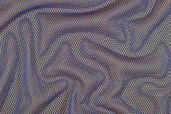 Błękitna zmięta nonwoven tkanina na kolorze żółtym Obrazy Royalty Free
