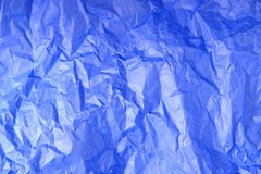 Błękitna Zmięta Tkankowego papieru tekstura obraz stock