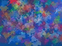 Błękitnawa plama i punkt nad czerwonym tłem Fotografia Stock