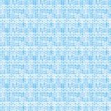 Błękitnawy pasiasty stylizowany dzianie wzór Obraz Stock