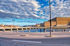 Błękitnawy Szwedzki piękno fotografia royalty free